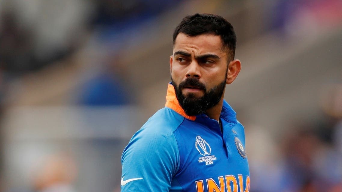 India's Virat Kohli reacts after losing his wicket Action Images via Reuters