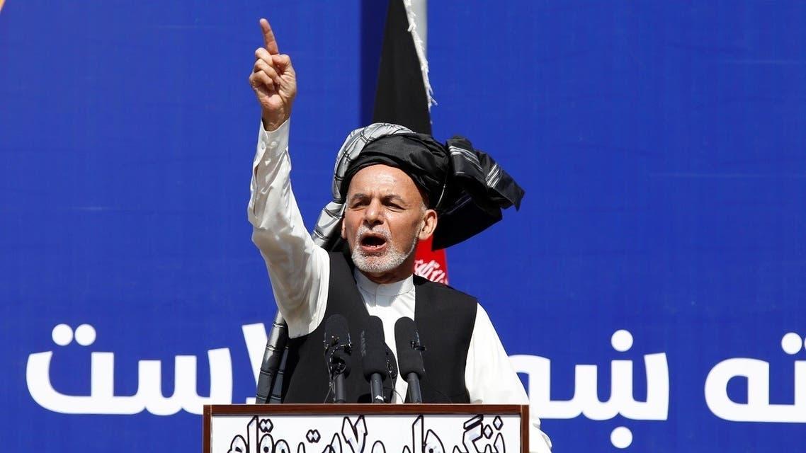 Afghanistan's President Ashraf Ghani, speaks during a gathering in Jalalabad, Afghanistan. (Reuters)