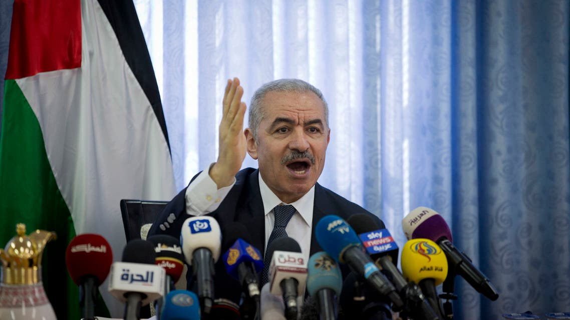 Palestinian Prime Minister Mohammed Shtayyeh chairs a cabinet meeting in the Jordan Valley village of Fasayil, on September 16, 2019. (File Photo: AP)