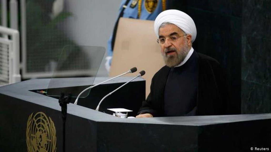 حسن روحانی در حال سخنرانی در مجمع عمومی - 2013