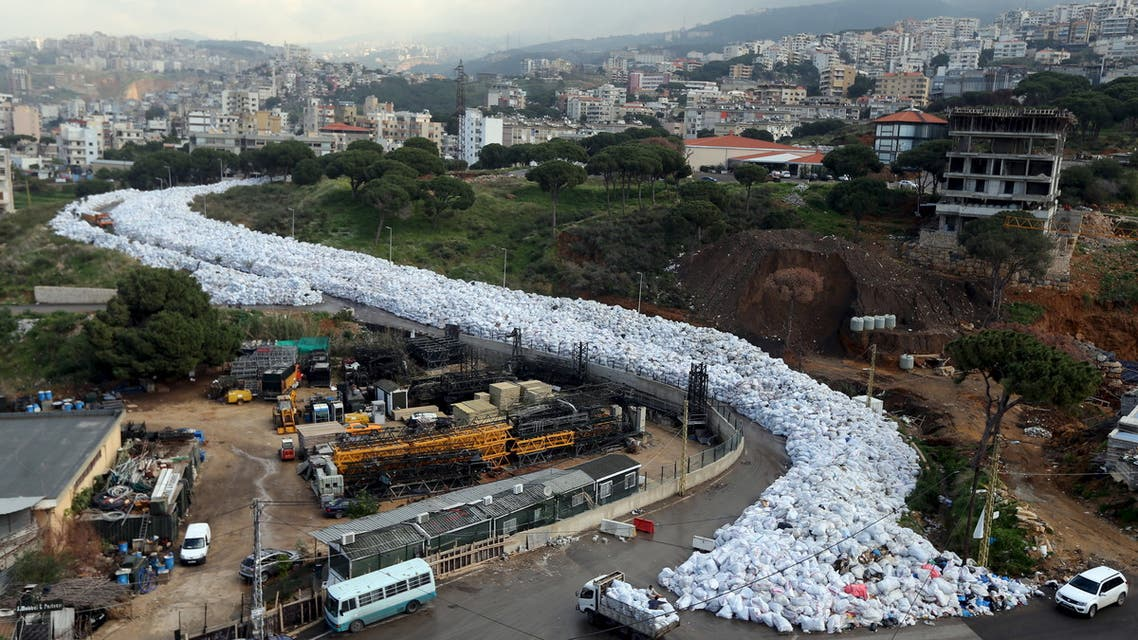 A general view shows packed garbage bags in Jdeideh, Beirut, Lebanon February 23, 2016. (File photo: Reuters)