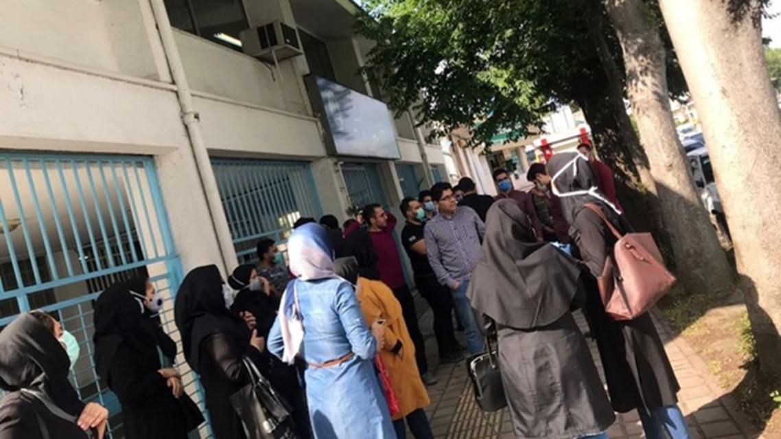تجمع پرستاران گیلانی در اعتراض به قرادادهای 89 روزه