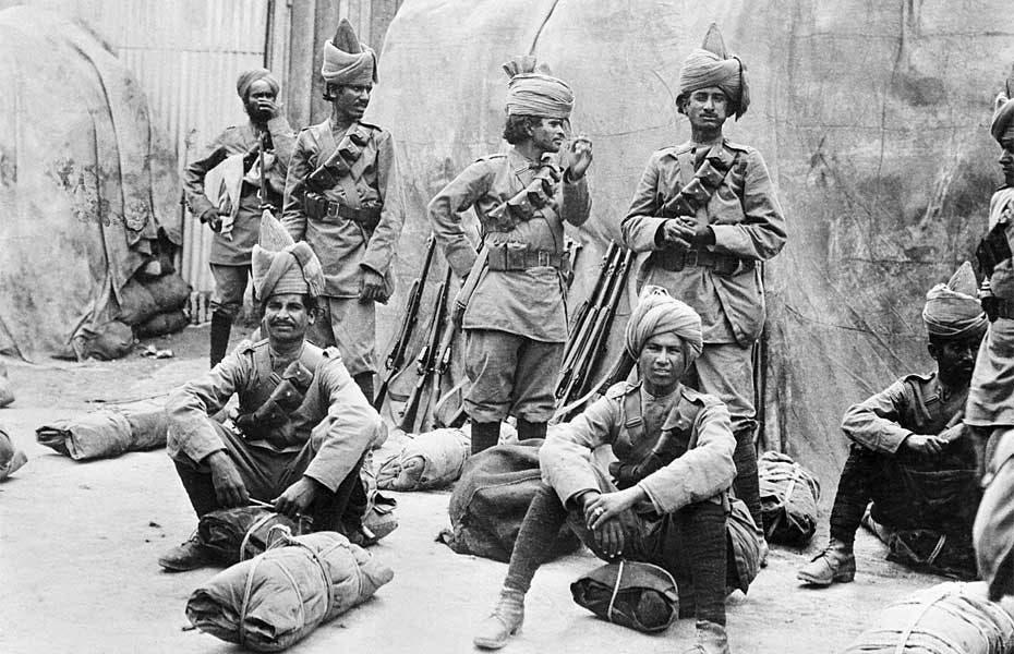 جنود هنود شاركوا بالحرب العالمية الأولى