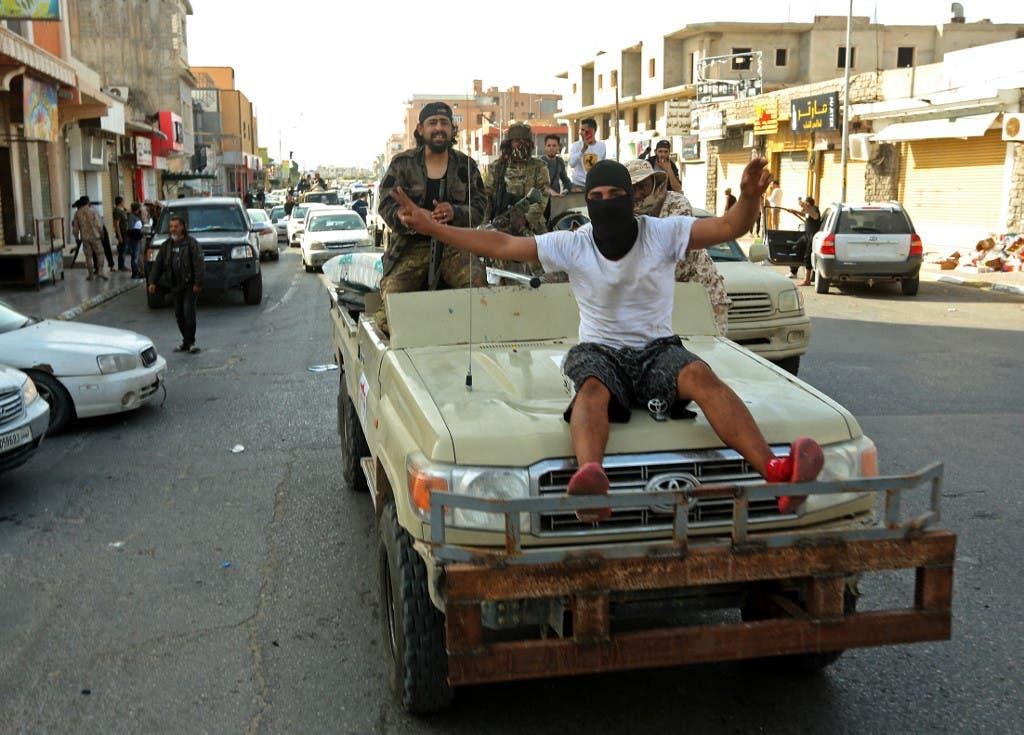 """عناصر تقاتل إلى جانب ميليشيات الوفاق في ليبيا """"أرشيفية"""""""