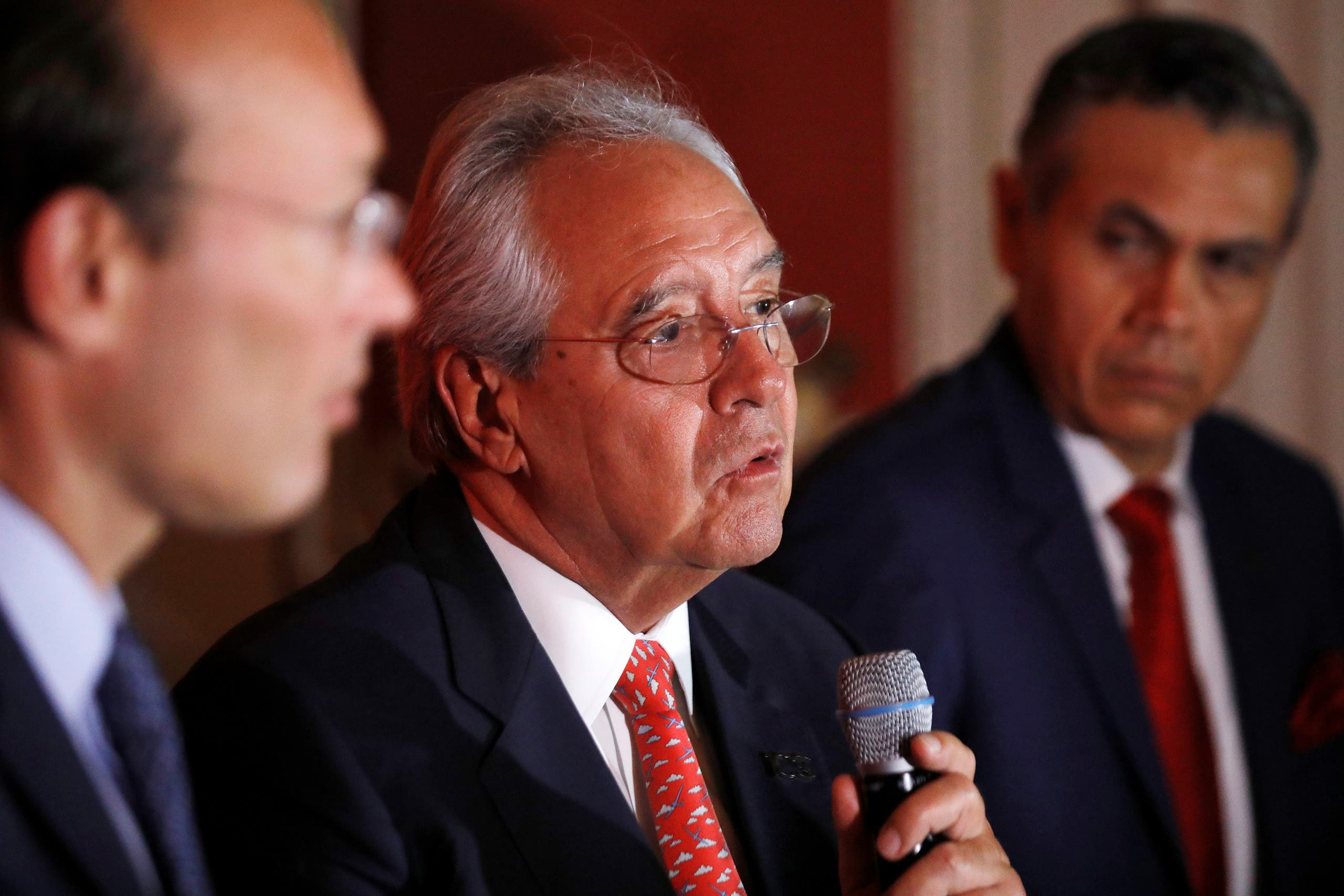 Roberto Kriete, chairman of Avianca Holdings participates in a news conference in San Salvador, El Salvador. (File Photo: Reuters)