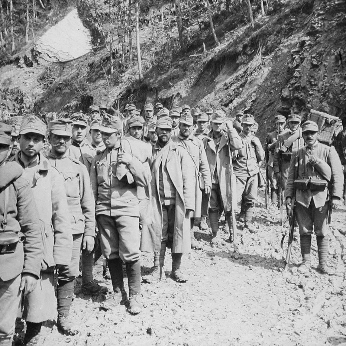 صورة لأسرى نمساويين بالحرب العالمية الأولى