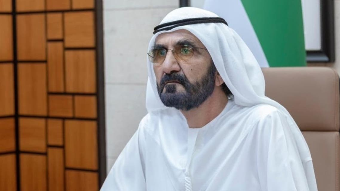 Sheikh Mohammed bin Rashid Al Maktoum, Vice President, Prime Minister and Ruler of Dubai during a remote UAE government meeting. (Twitter)