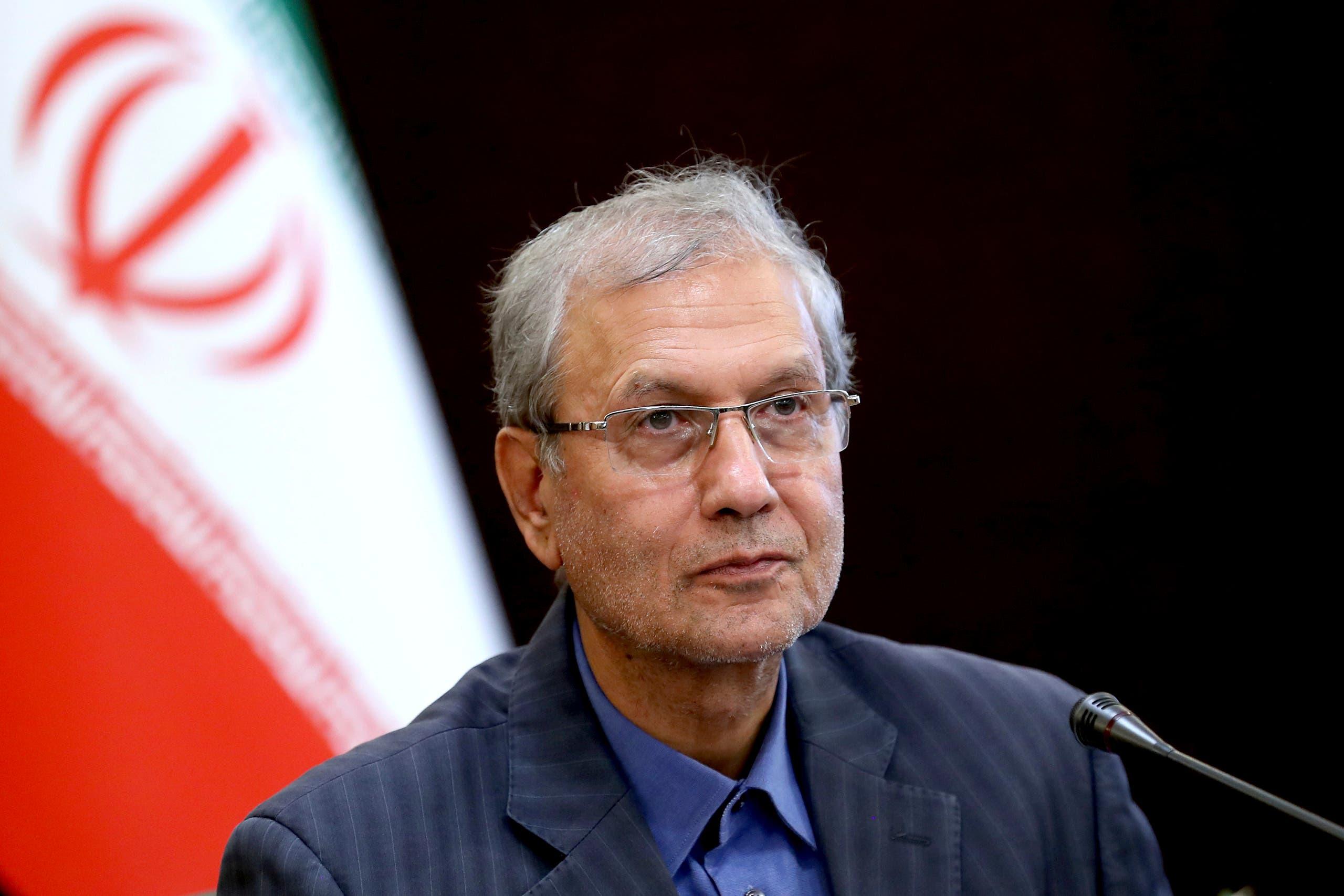 Iran's government spokesman Ali Rabiei speaks in a press briefing in Tehran, Iran. (File Photo: AP)