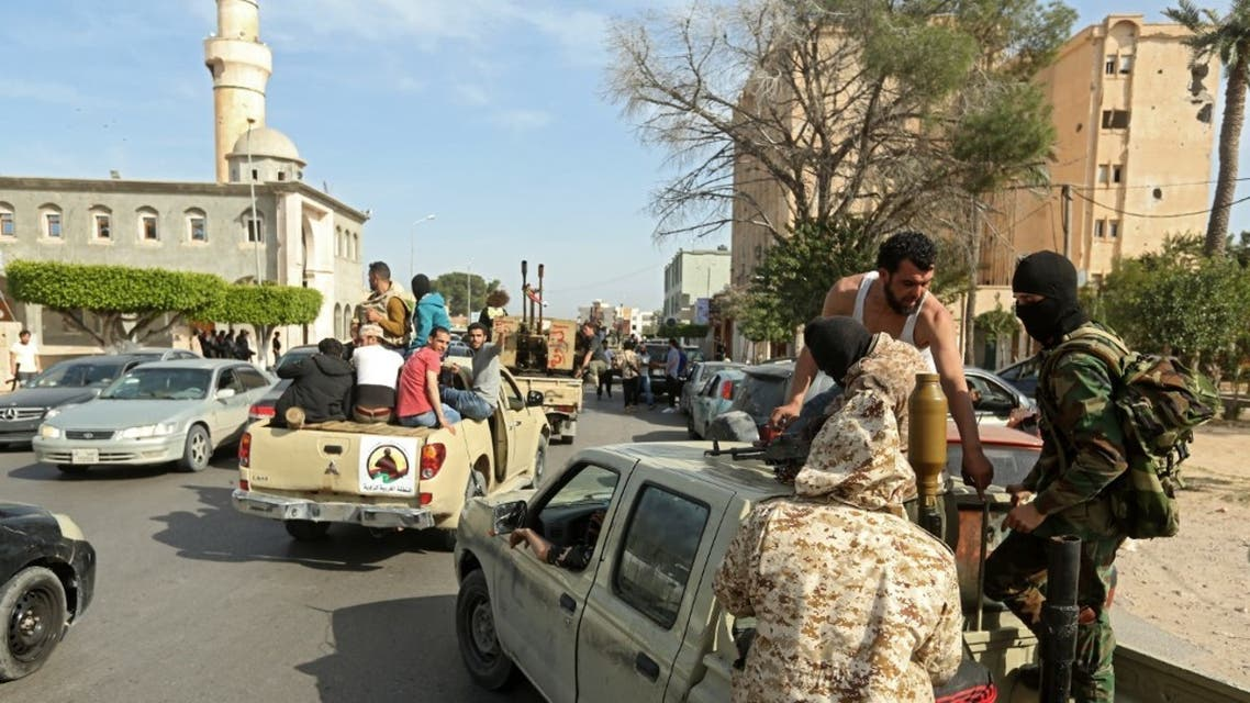 عناصر تقاتل إلى جانب ميليشيات الوفاق في ليبيا - فرانس برس