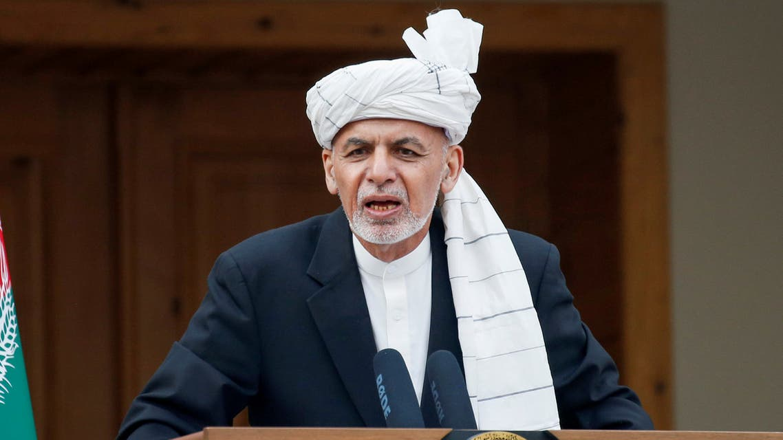 Afghanistan's President Ashraf Ghani speaks during his inauguration as president, in Kabul, Afghanistan March 9, 2020. REUTERS/Mohammad Ismail