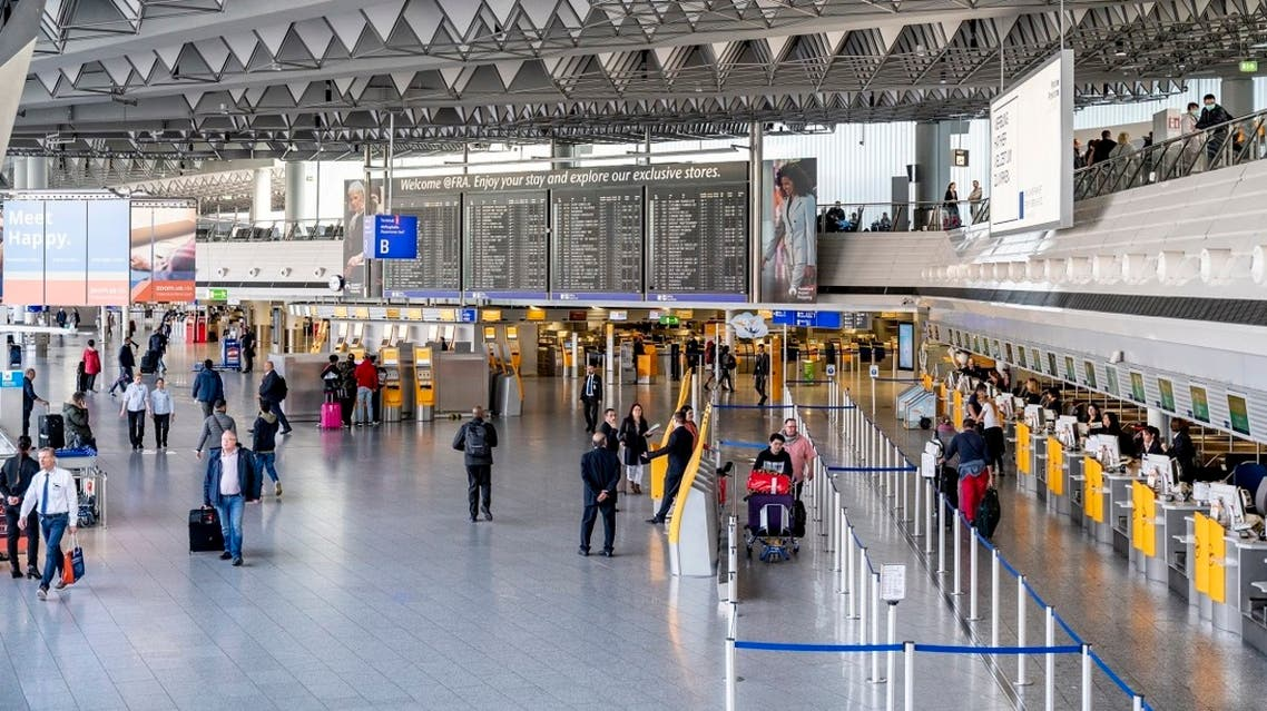 View shows a terminal at Frankfurt am Main, western Germany, on March 16, 2020, where air traffic slowed down due to the spread of the novel coronavirus. (AFP