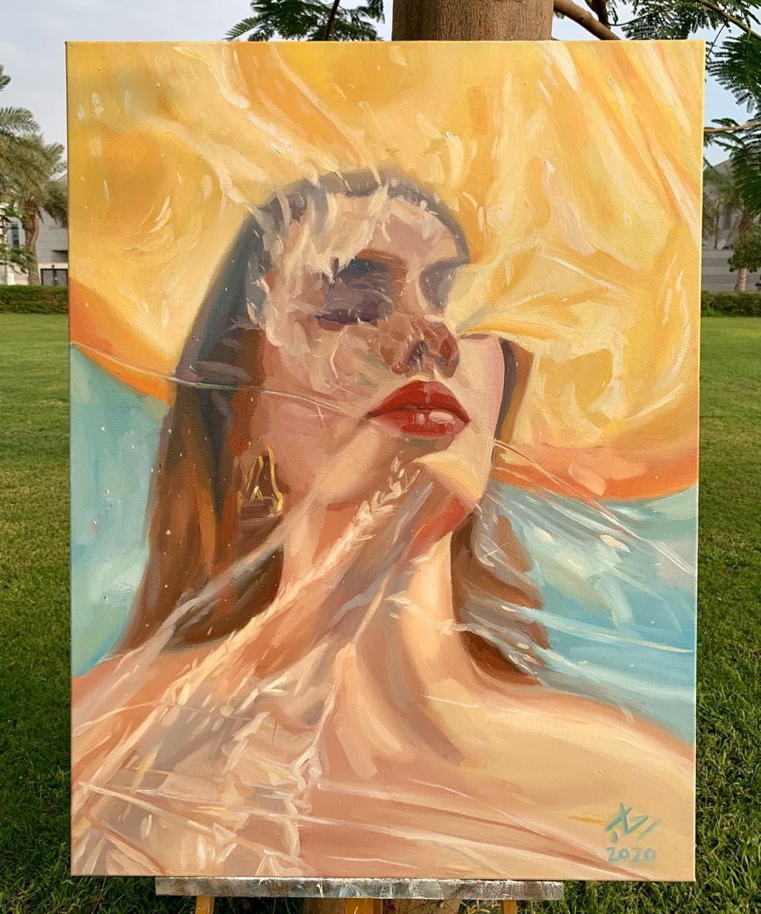KSA: Saudi artist Painting