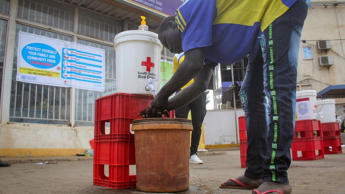 A man washes his hands to curb the spread of the new coronavirus in Juba, South Sudan. (File Photo: AP)