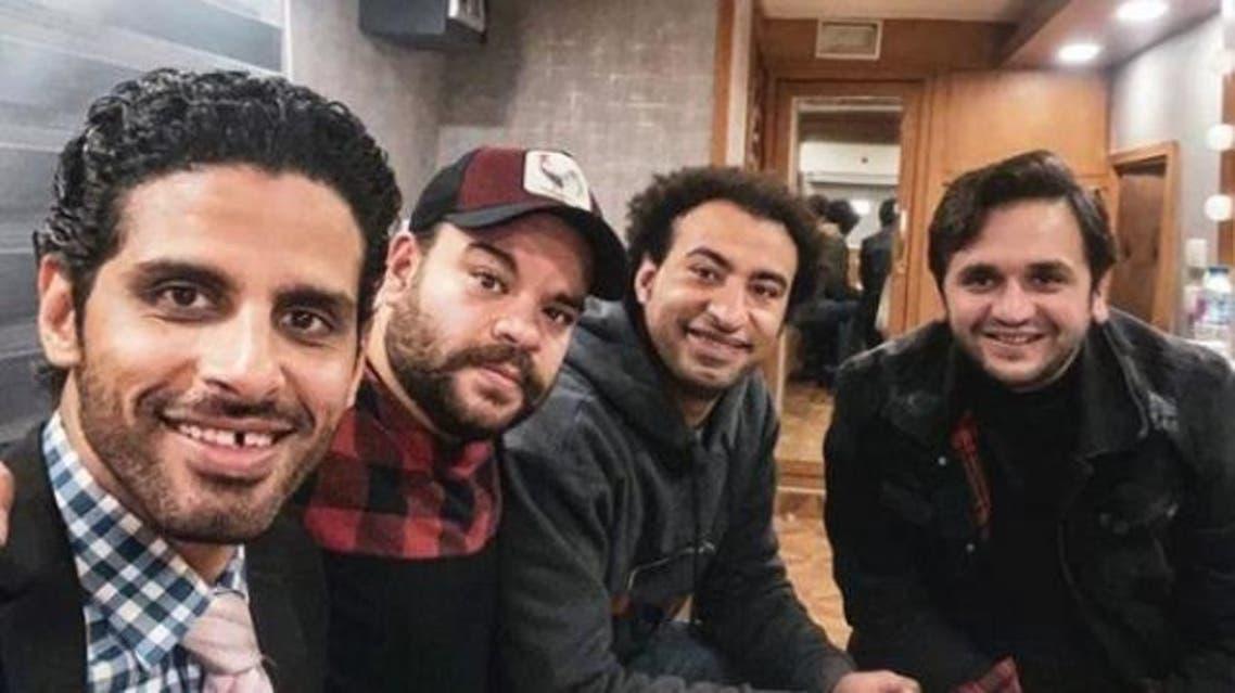أبطال مسرح مصر مصطفى خاطر وعلي ربيع ومحمد عبدالرحمن وحمدي المرغني