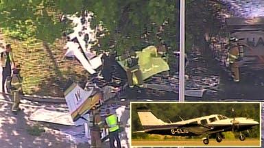 شاهد ما يشبه انفجاراً سقطت بعده طائرة صغيرة بشارع أميركي