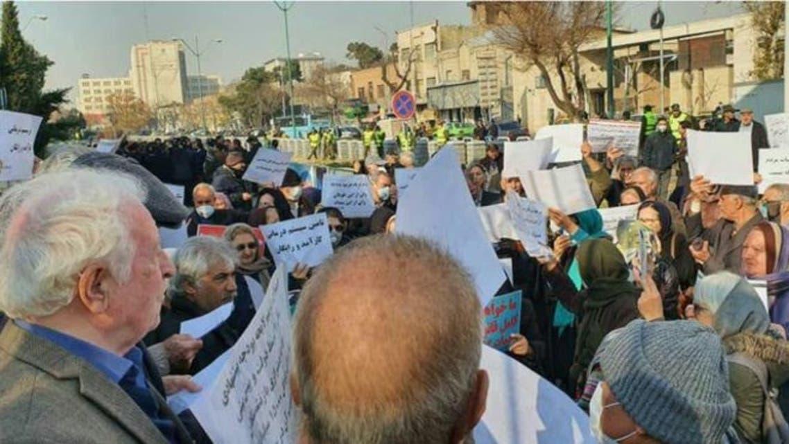 صورة أرشيفية من احتجاجات المعلمين في ايران لعام 2019