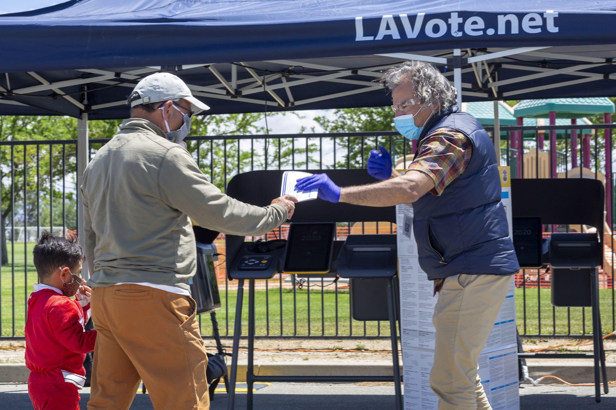 من انتخابات كاليفورنيا (فرانس برس)