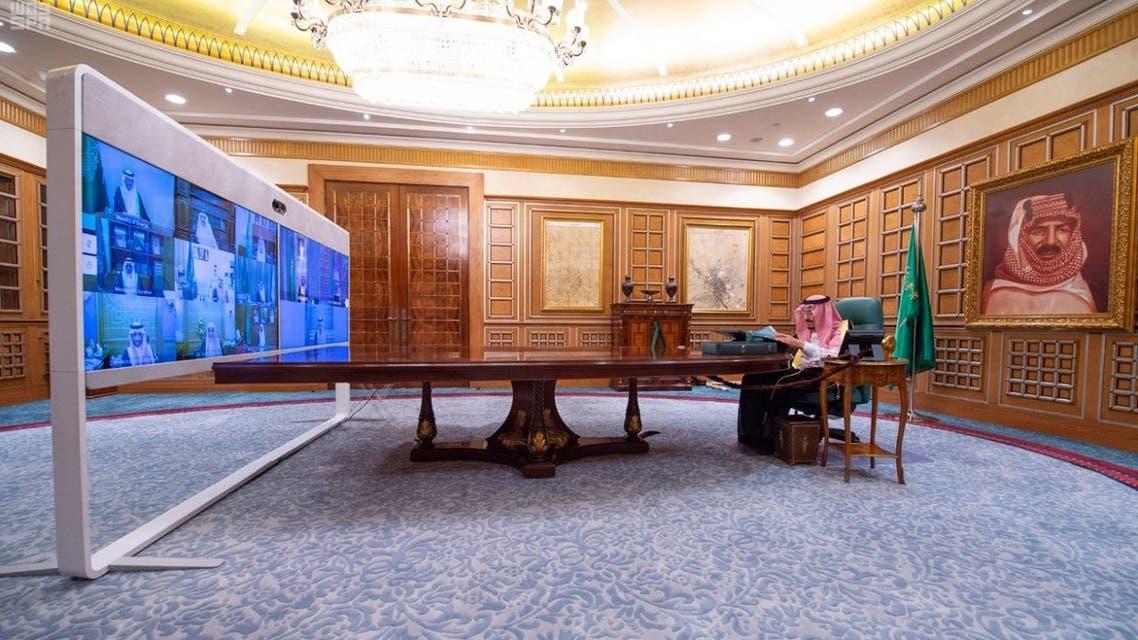 Saudi King Salman cabinet session