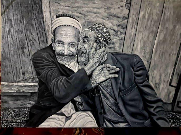 فنان يمني سخّر فنه لرسم بساطة حياة الناس