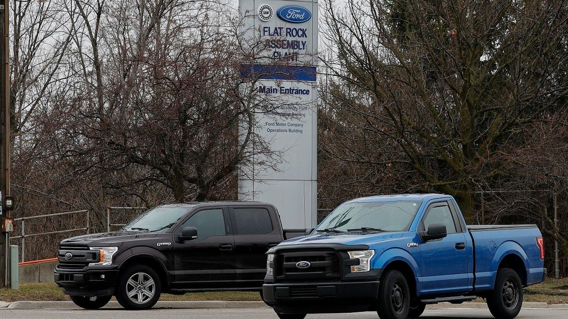 Workers leave the Ford Flat Rock Assembly Plant on March 19, 2020 in Flat Rock, Michigan. (File photo: AFP)