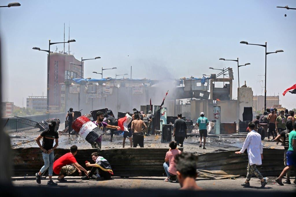من احتجاجات وسط بغداد (أرشيفية من فرانس برس)