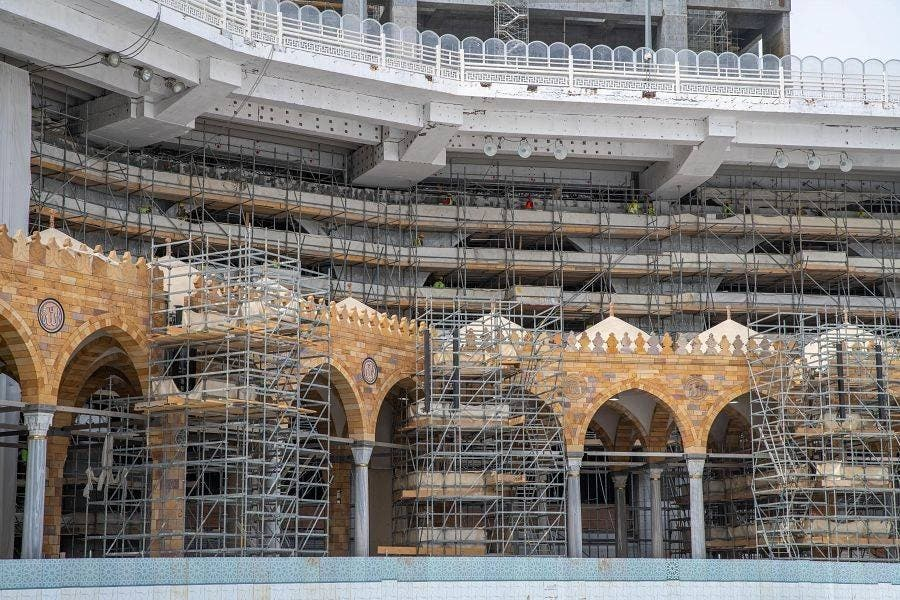 Work continues on the Grand Mosque of Mecca's third expansion, Saudi Arabia. (SPA)