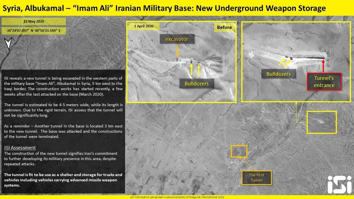 Iran building new tunnel at Imam Ali base in east Syria: Satellite images