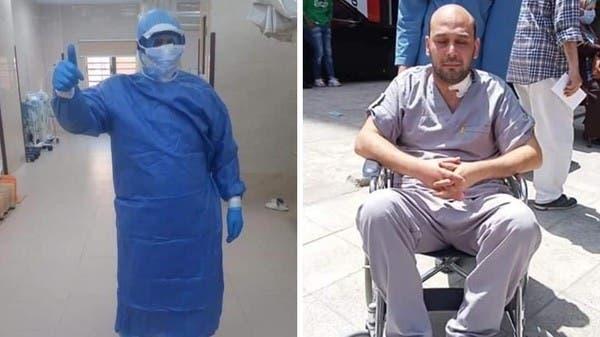 قصة طبيب مصري فقد بصره بسبب علاجه لمصابي كورونا
