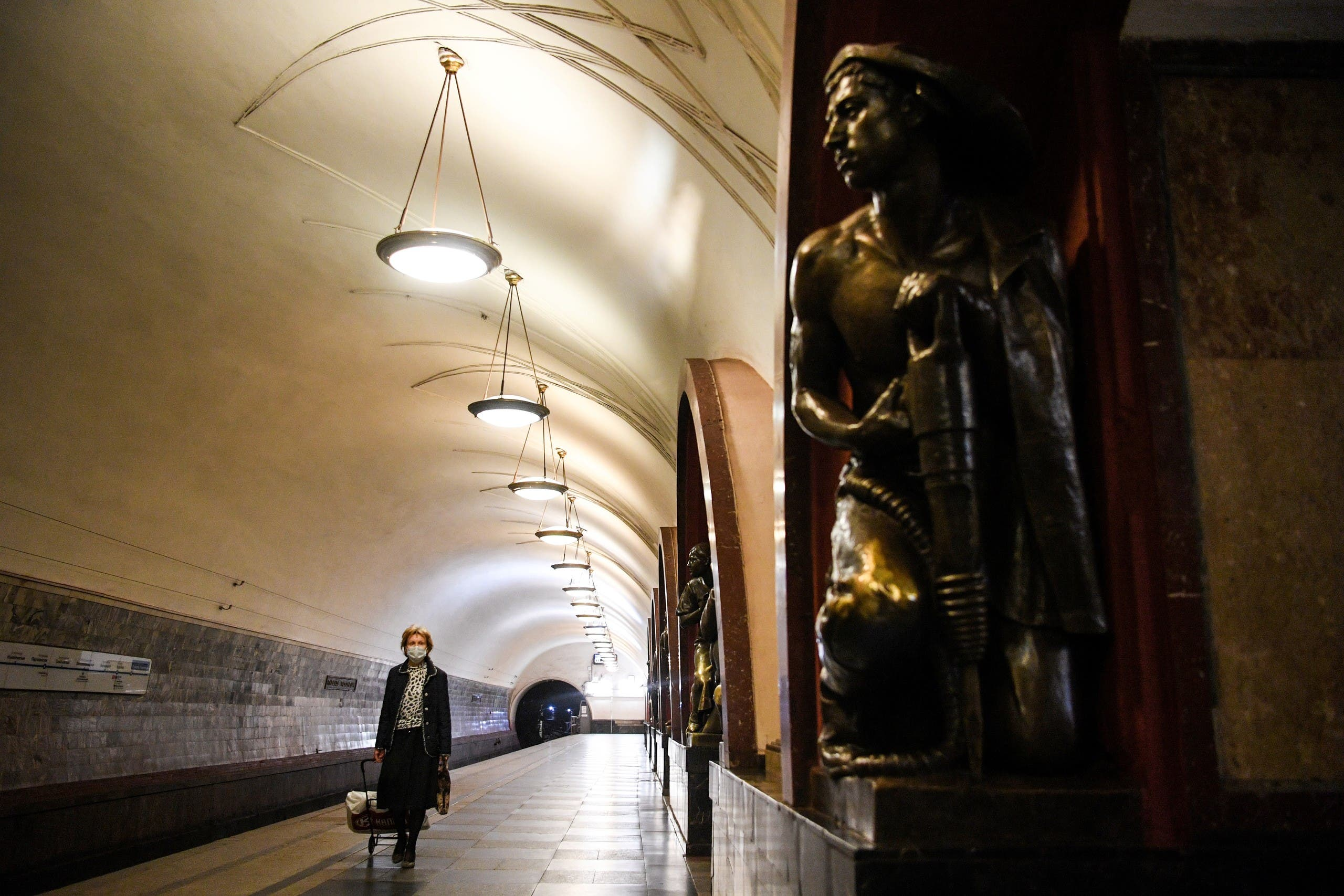 AFP- Russia Metro station