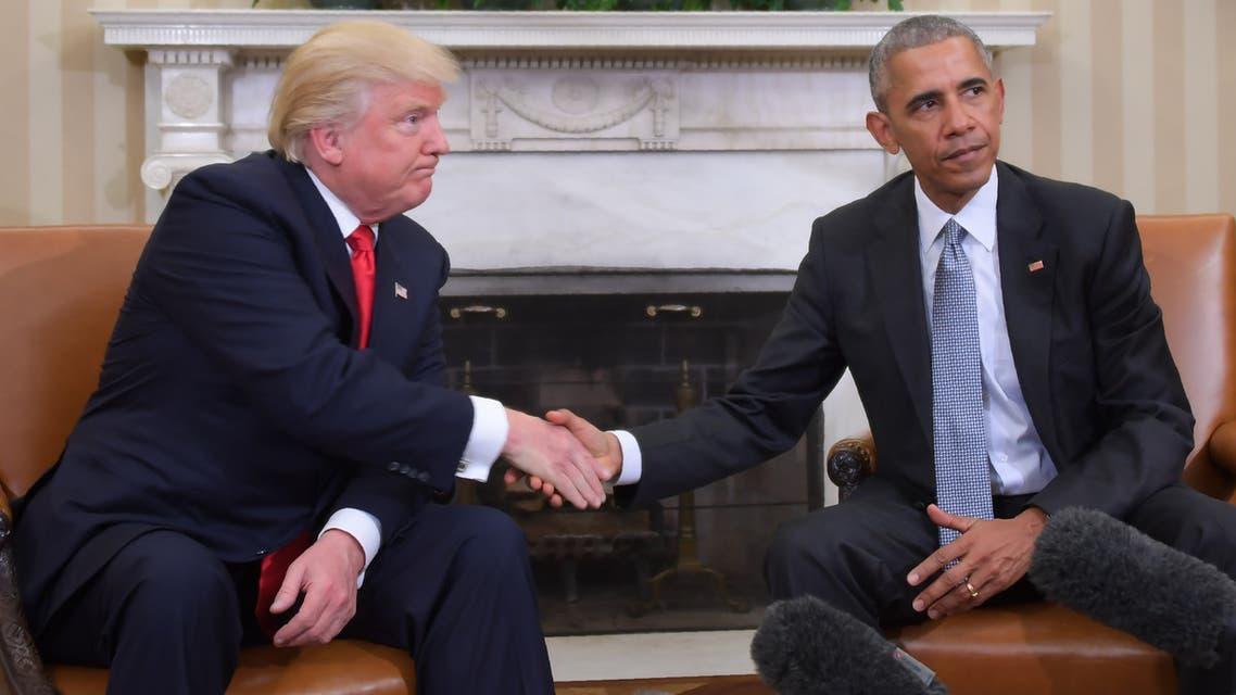 الرئيس الأميركي السابق باراك أوباما والحالي دونالد ترمب (أرشيفية- فرانس برس)