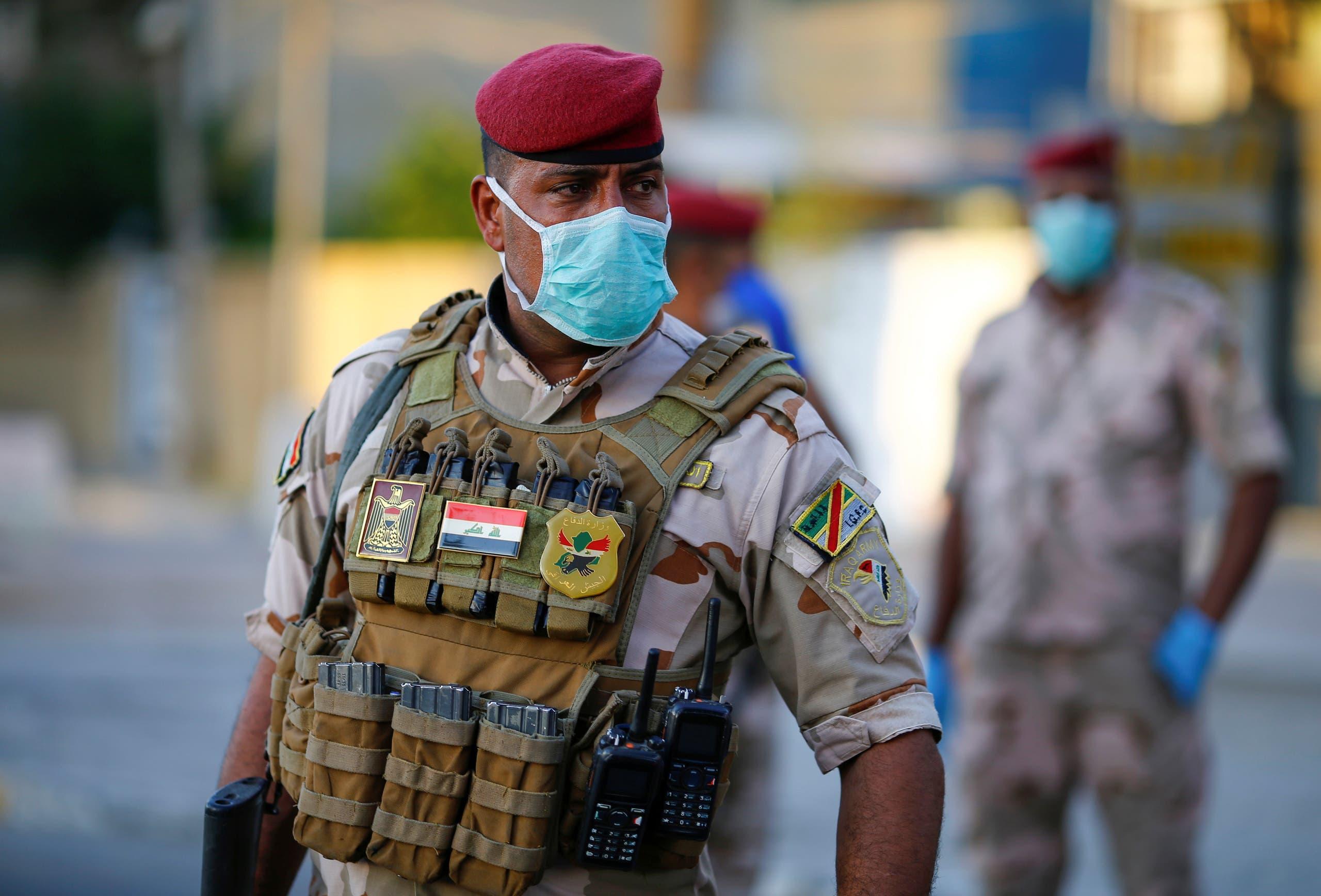 جندي عراقي في بغداد يوم 3 مايو