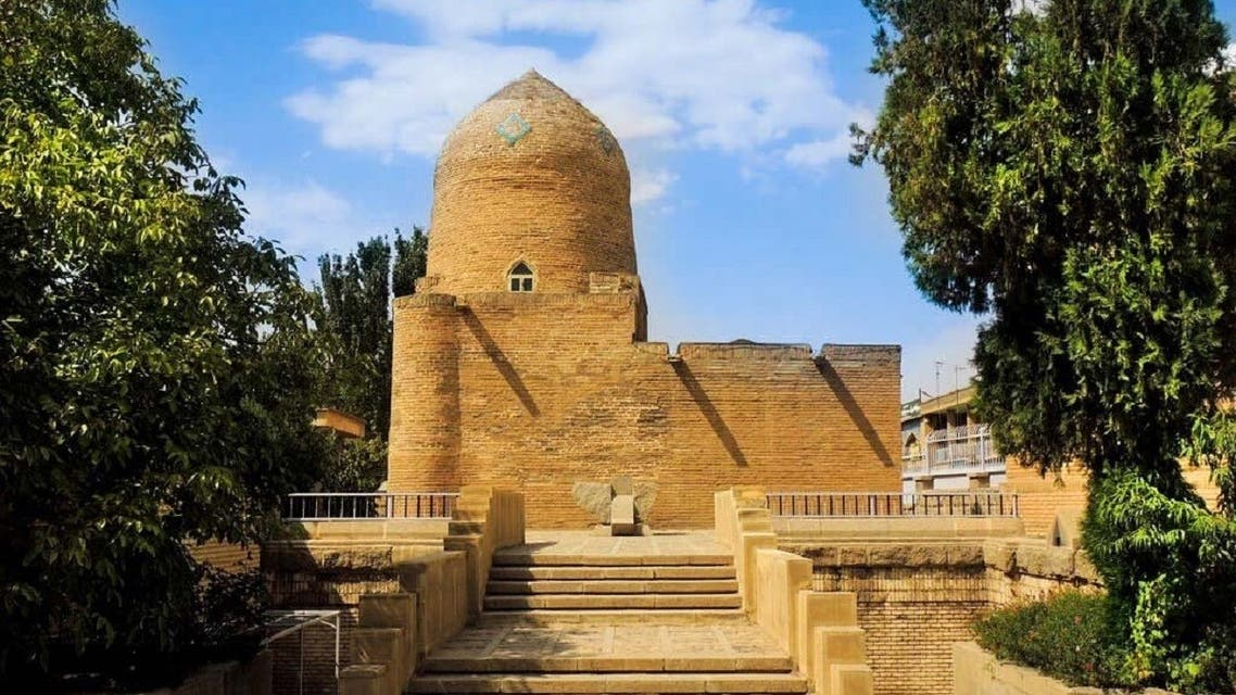A file photo of the tomb of Esther and Mordechai, a holy Jewish site in the Iranian city of Hamedan. (Twitter)