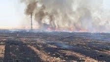 النار تلتهم محاصيل تل تمر.. فصائل تركيا تفتعل الحرائق