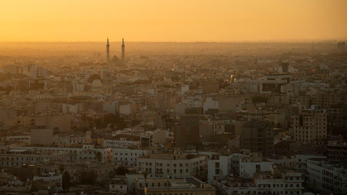 The sun rises over Tripoli, Libya, on February 28, 2020. (AP)