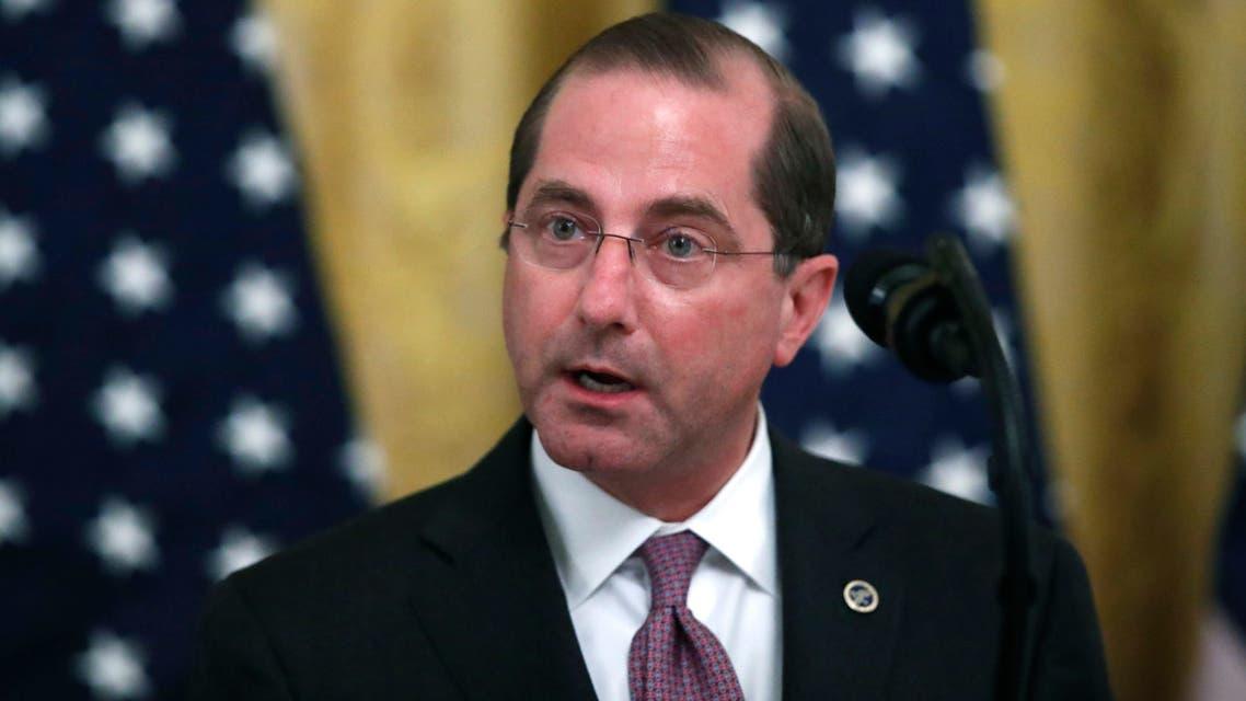 The US Secretary of Health and Human Services Alex Azar. (File Photo: AP)