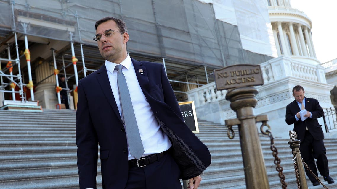 US Representative Justin Amash departs after a series of votes at the US Capitol in Washington on July 10, 2019. (Reuters)