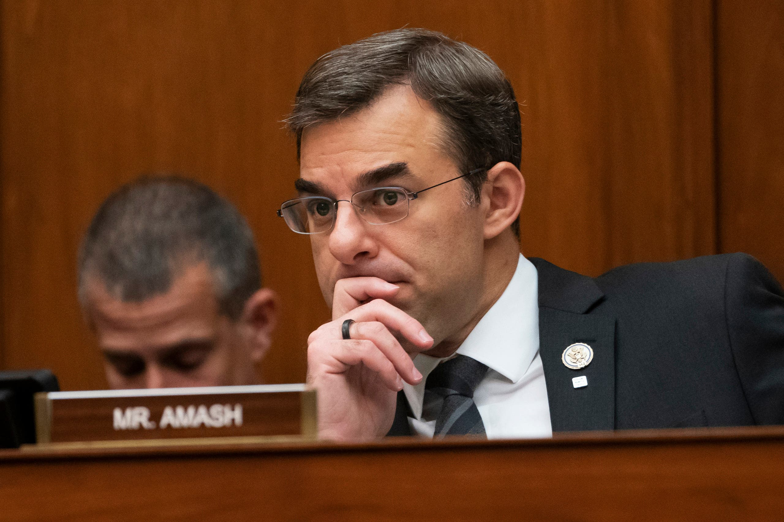 In this June 12, 2019, file photo, Rep. Justin Amash, R-Mich., listens to debate on Capitol Hill in Washington. (File photo: AFP)