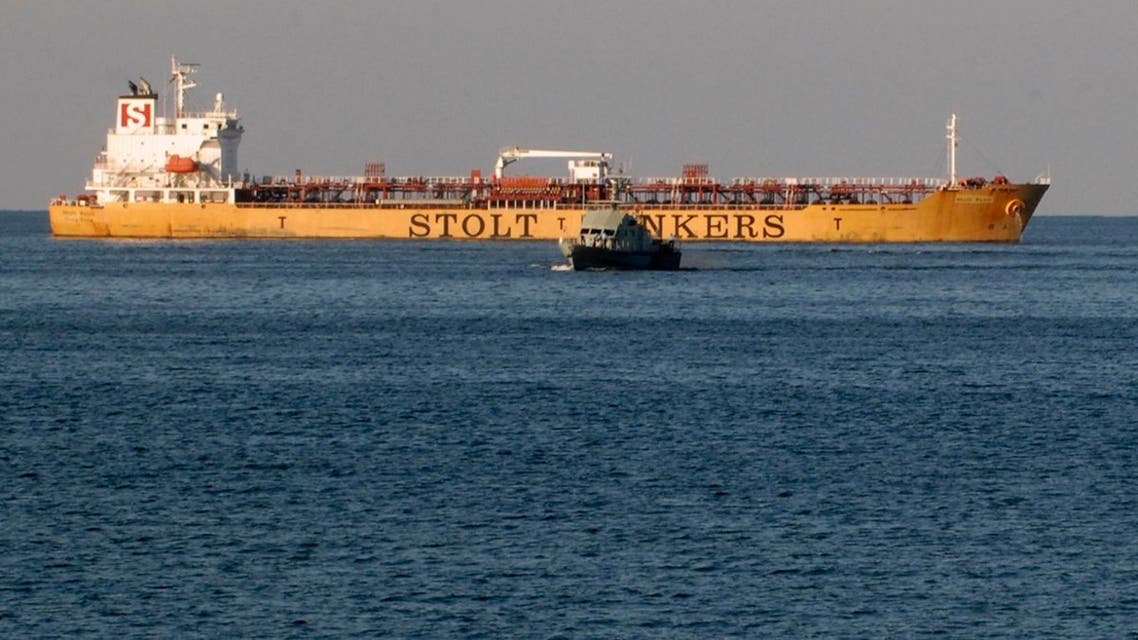 A file photo of the Stolt Valor chemical tanker is seen anchored at the Sultan Qaboos port in Muscat November 23, 2008. (File photo: Reuters)