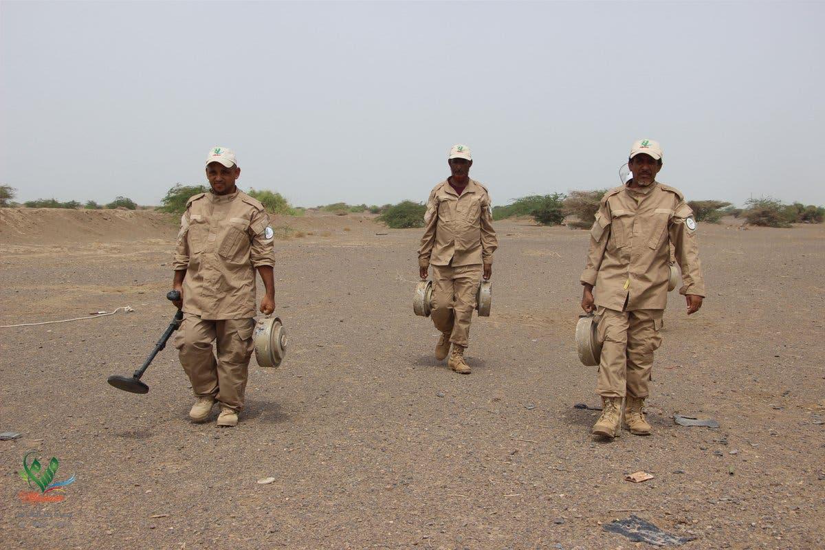 فرق مسام تعمل على نزع الألغام في اليمن