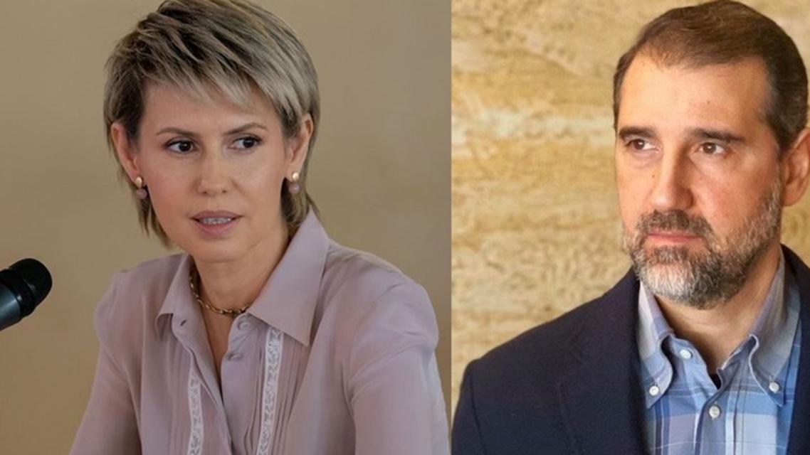 رامي مخلوف وأسماء الأسد