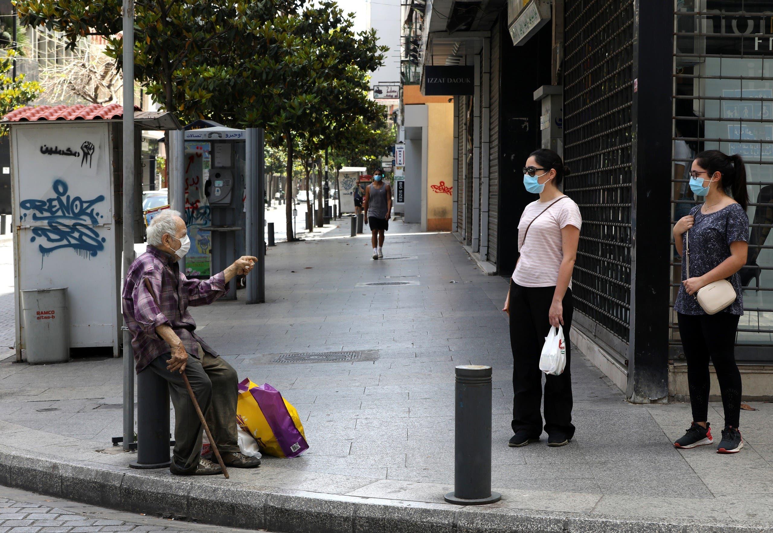 تباعد اجتماعي وكمامات في شوارع بيروت