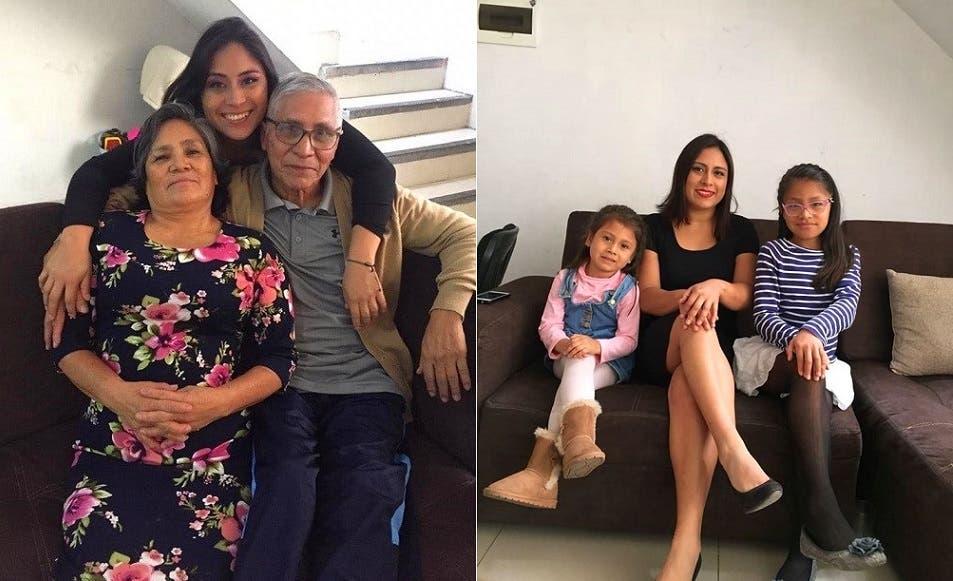 القتيلة مع ابنتيها، والأب وزوجته وابنته تاليا جيهان