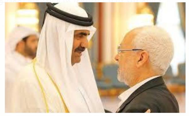 في لقاء سابق مع أمير قطر السابق