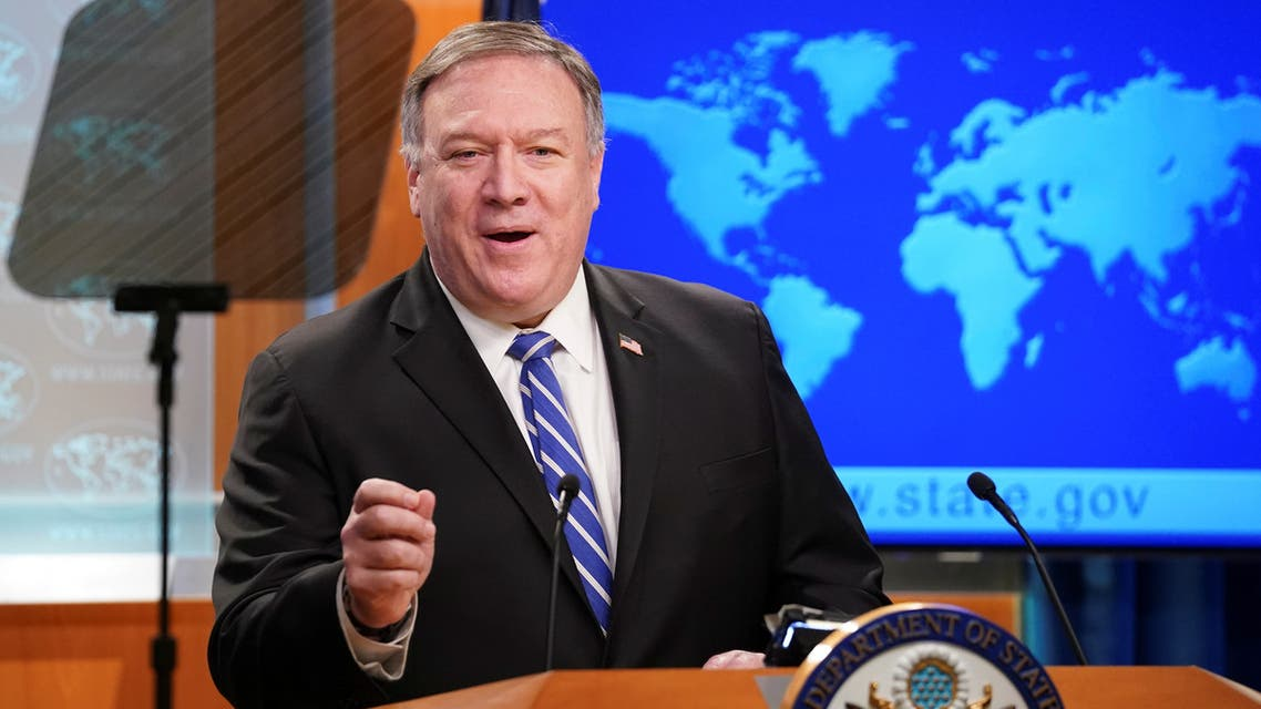 US Secretary of State Mike Pompeo speaks to reporters during a media briefing at the State Department in Washington, on May 6, 2020. (File Photo: Reuters)