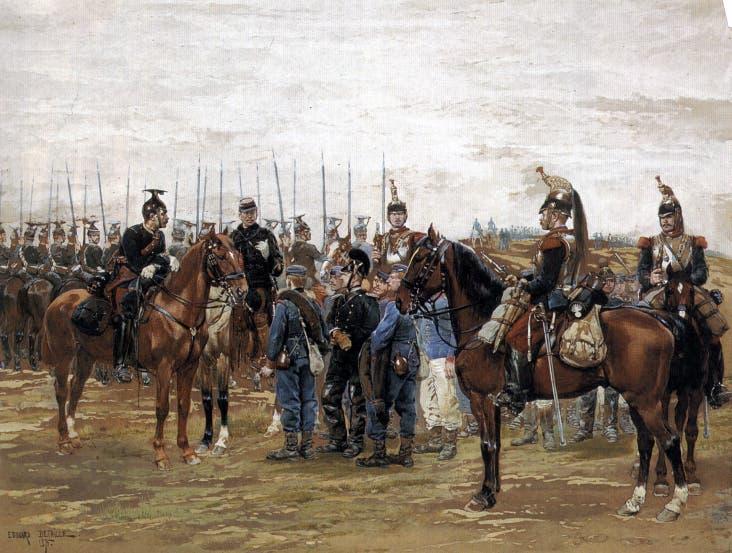 لوحة تجسد جانباً من الحرب الفرنسية البروسية