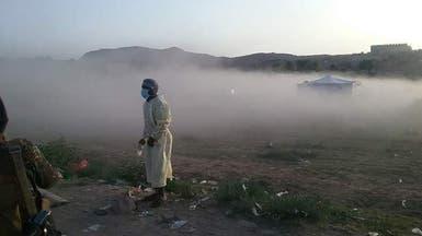 ميليشيا الحوثي تقصف مخيمات طبية لفحص كورونا