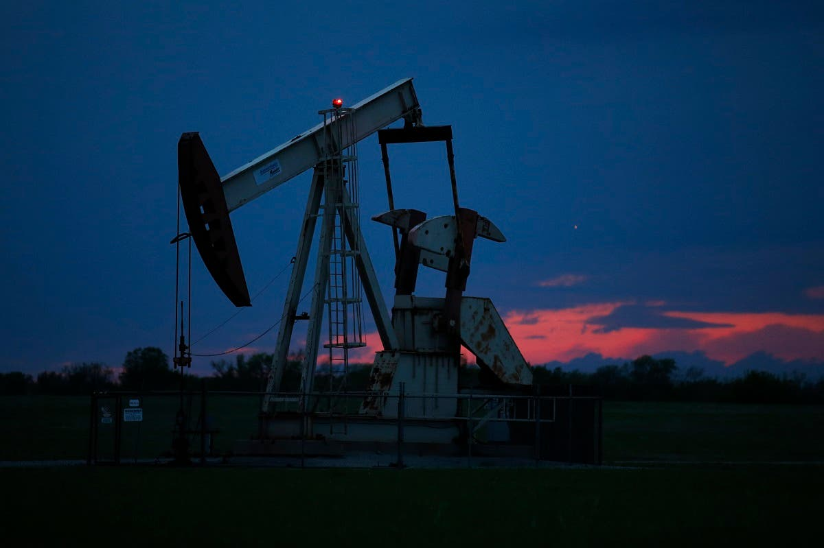 In this April 21, 2020 file photo, a pumpjack is pictured as the sun sets in Oklahoma City. (AP)