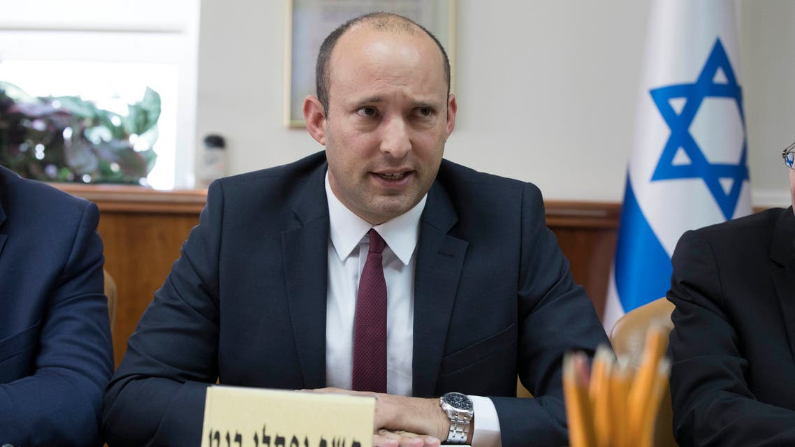 Israeli Minister Naftali Bennett speaks during the weekly cabinet meeting in Jerusalem on January 27, 2019. (File photo: AFP)