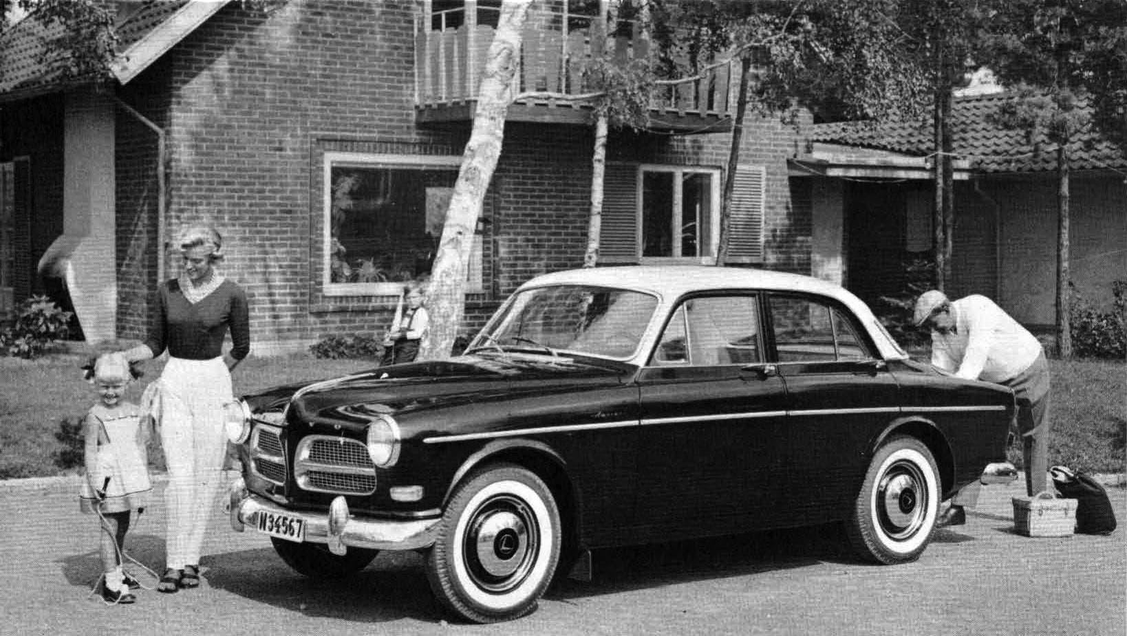 صورة لإحدى سيارات فولفو التي انتشر استخدامها ما بين الخمسينيات والستينيات