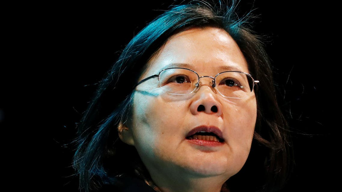 Taiwan's President Tsai Ing-wen speaks during a campaign rally in Taoyuan, Taiwan January 8, 2020. (Reuters)